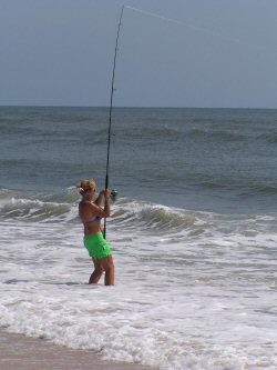 photo of surf fishing at Anastasia State Park